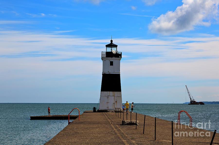 Erie Harbor North Pier Light Photograph