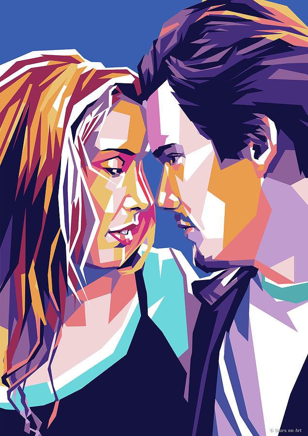 Ethan Hawke And Julie Delpy Digital Art