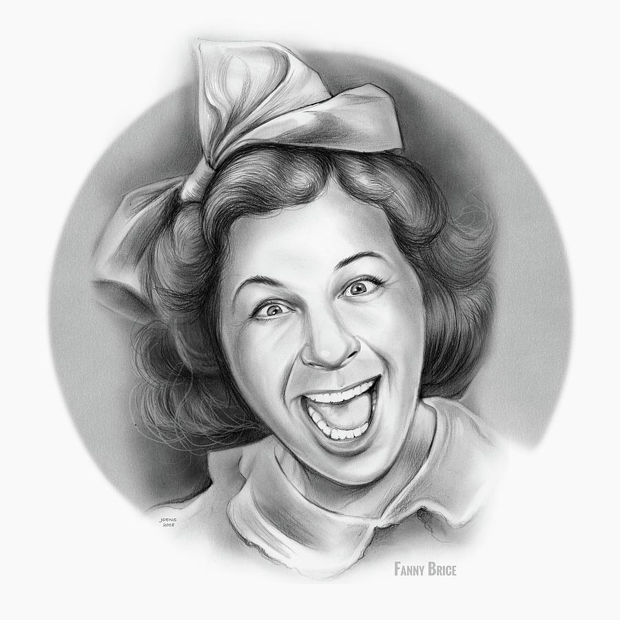 Fanny Brice Drawing