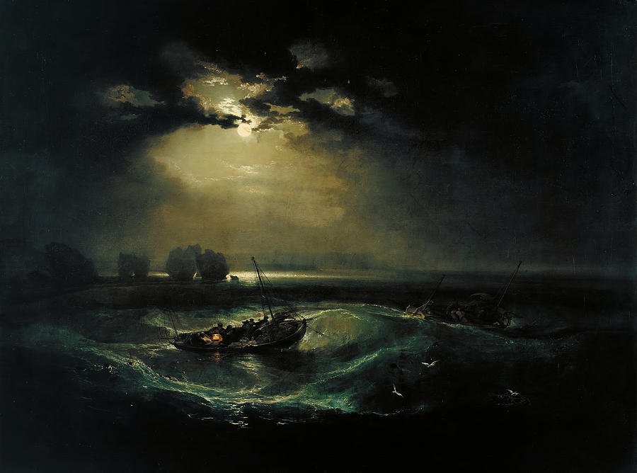 Fishermen At Sea Painting