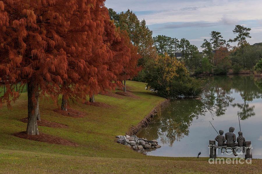 Fishing Hole - Autumn Photograph