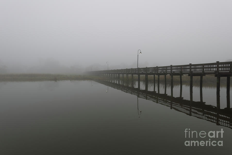 Fishing In The Carolina Fog Photograph