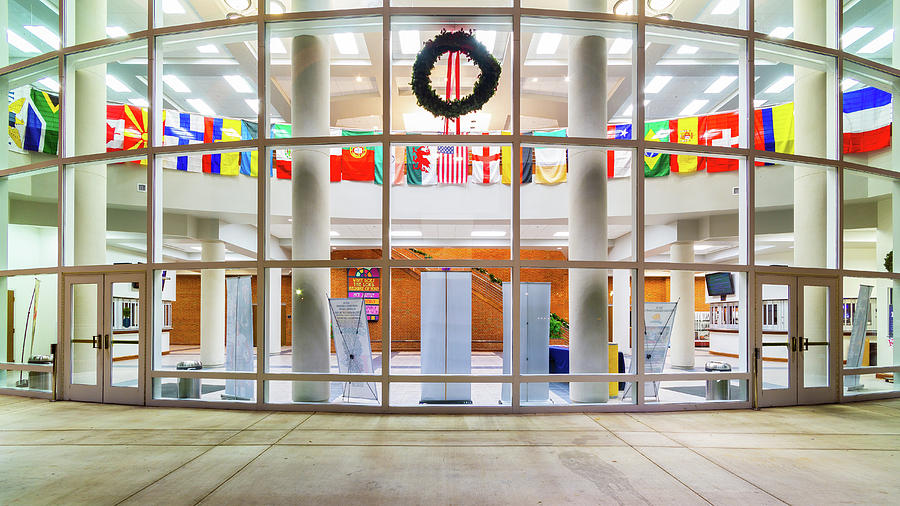 Flags At The King University Student Center Complex Photograph
