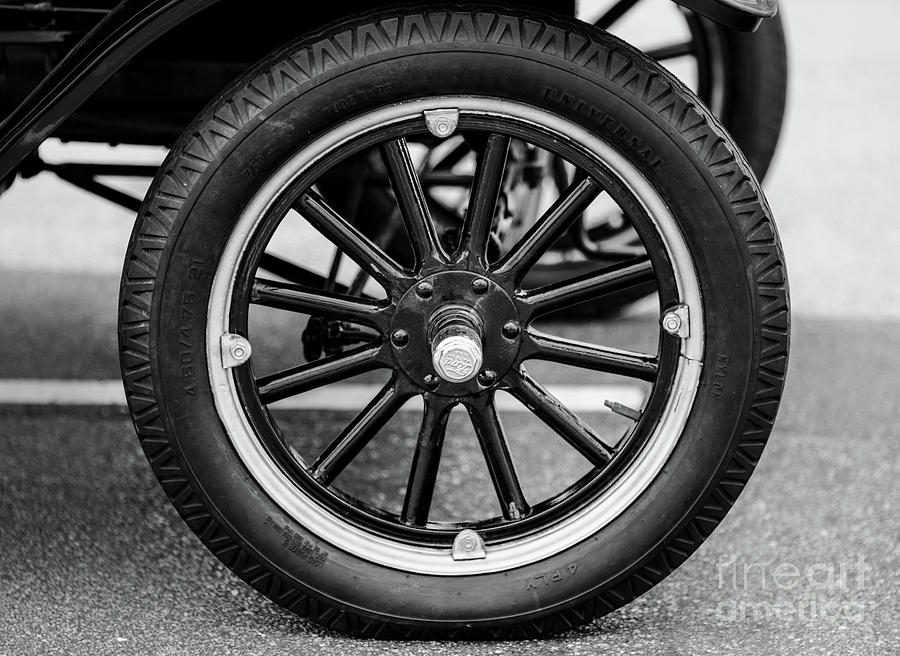 Ford Model T Wheel Photograph