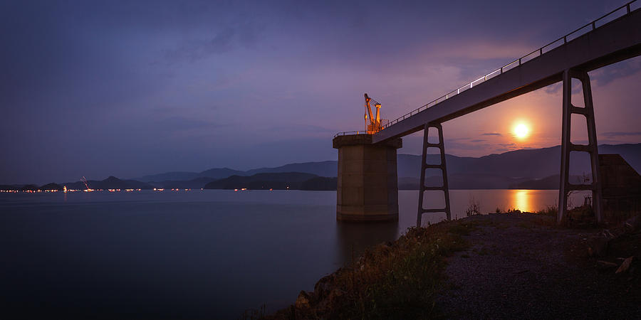 Fourth Of July Moonrise At South Holston Photograph
