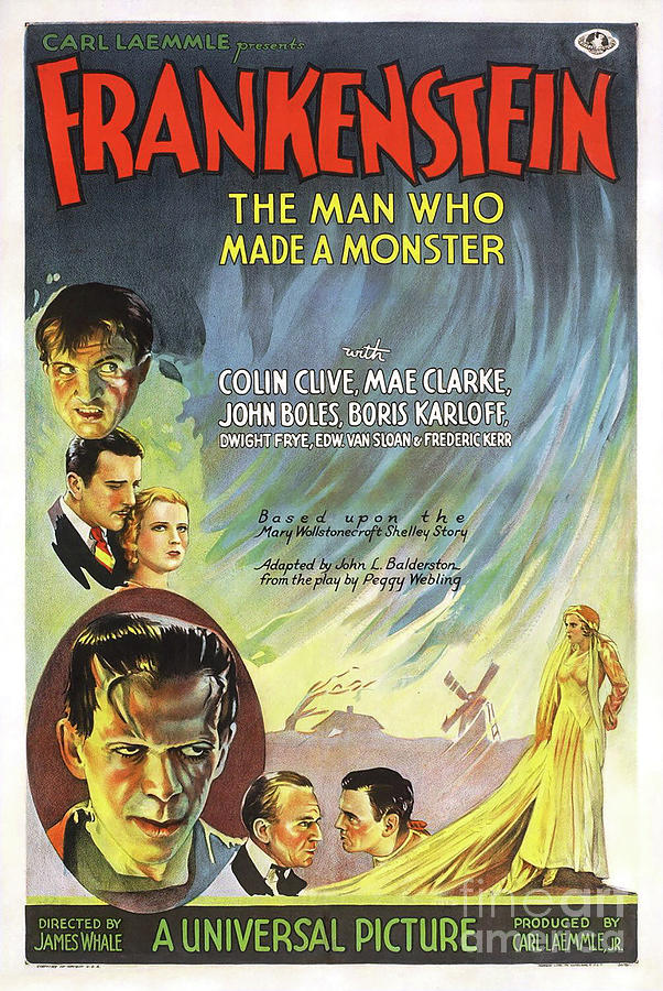 Frankenstein Movie Poster Drawing