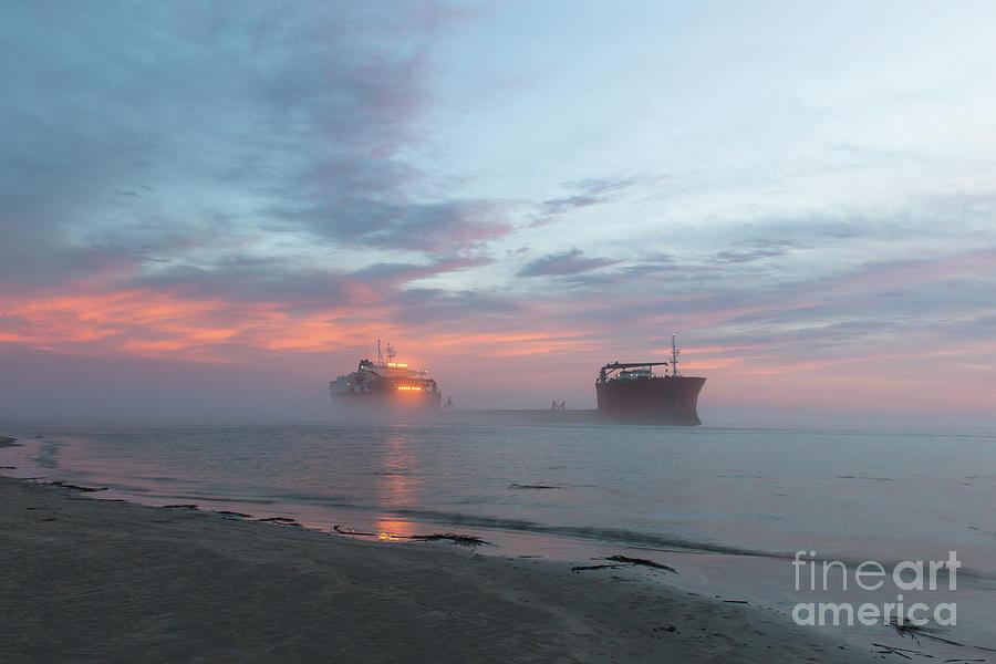 Ghost Ship - Foggy Twilight Photograph