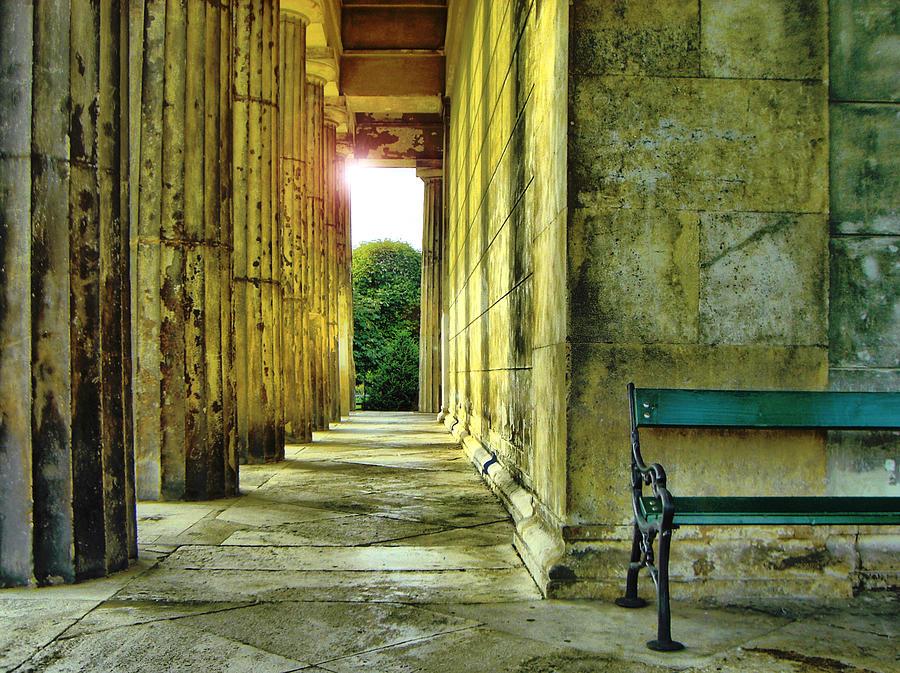 Greek Temple In Vienna Photograph