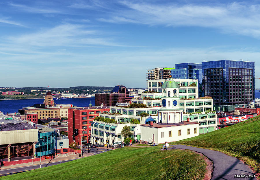 Halifax Town Clock And Halifax Skyline Photograph