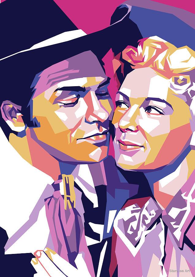 Howard Keel And Betty Hutton Digital Art