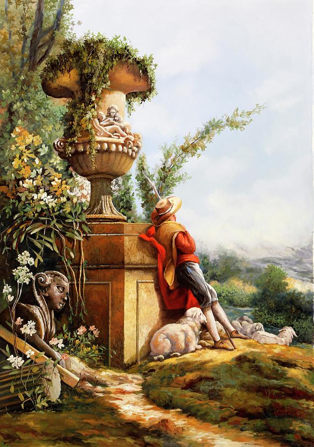 Il Pastore E Le Sue Pecore Painting