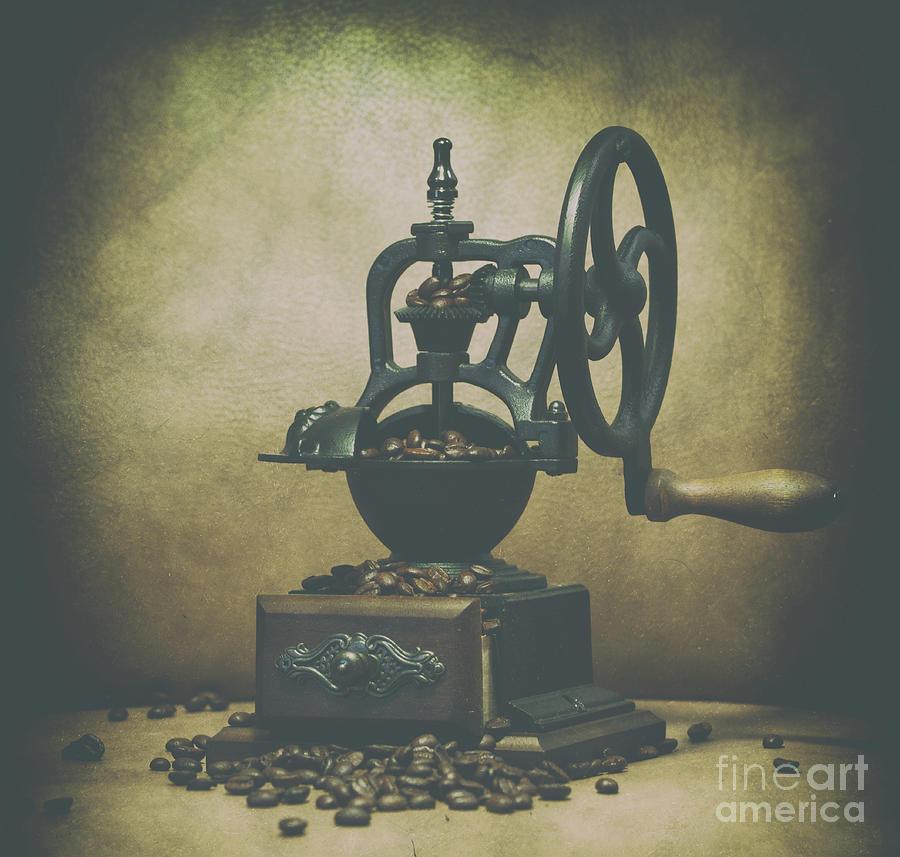 Iron Coffee Grinder Photograph