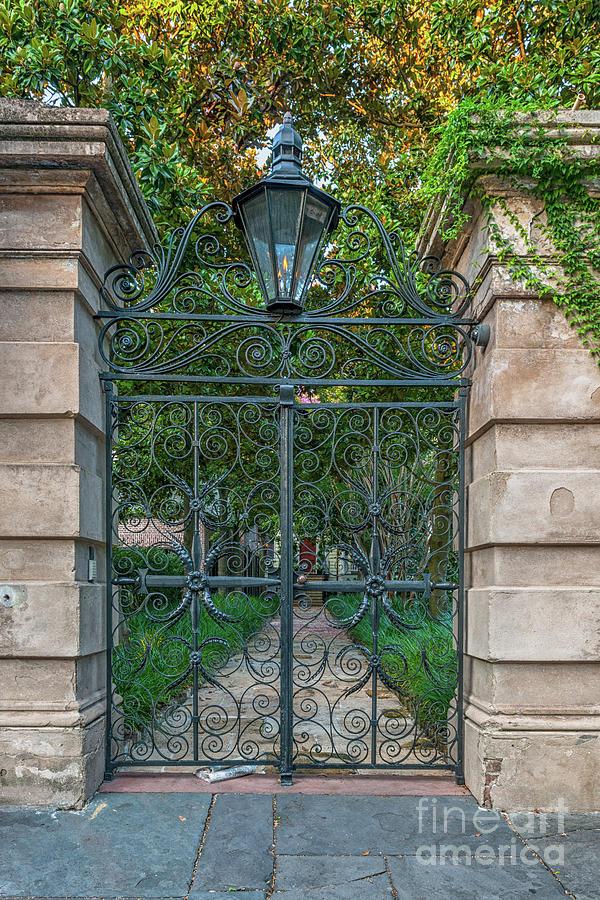 Iron Sword Gates - Charleston Photograph