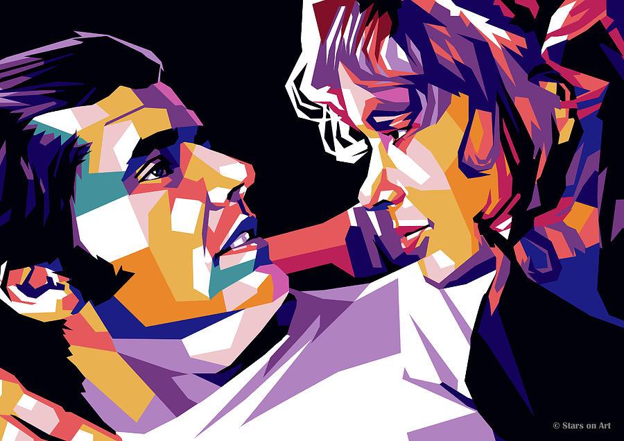 Jack Nicholson And Karen Black Digital Art