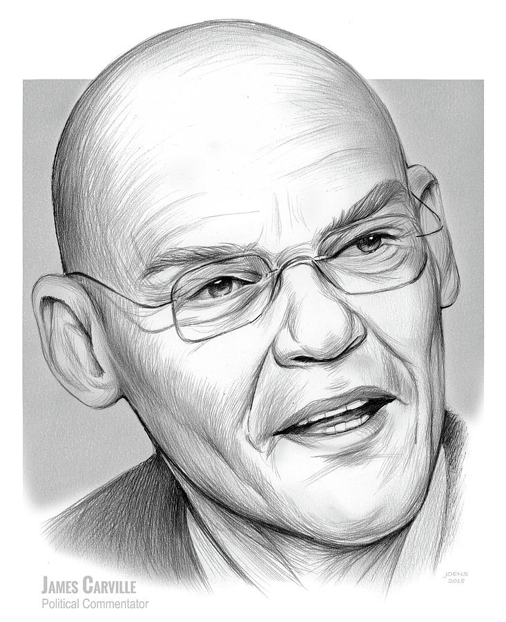 James Carville Drawing