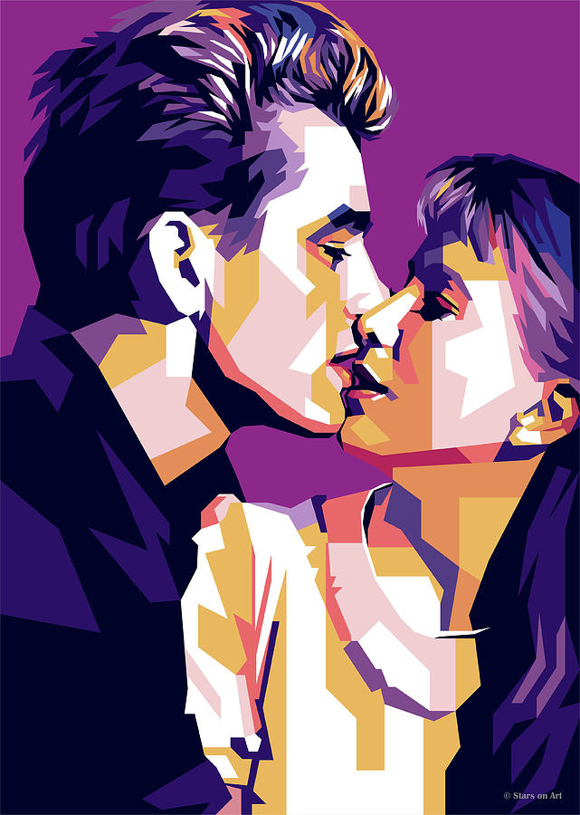 James Dean And Julie Harris Digital Art