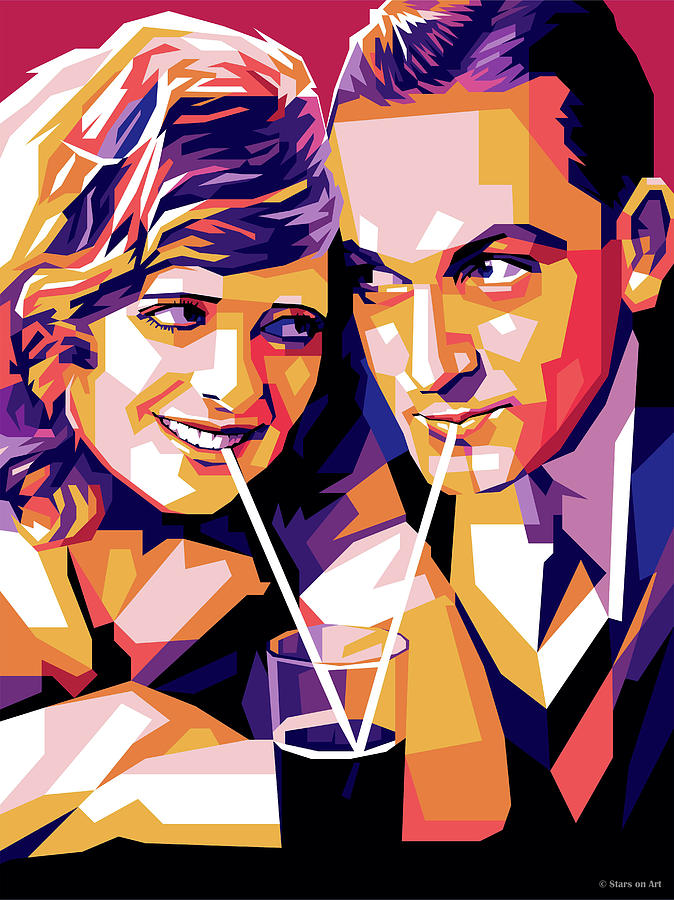 Janet Gaynor And Fredric March Digital Art