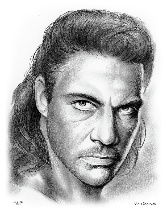 Jean-claude Van Damme Drawing
