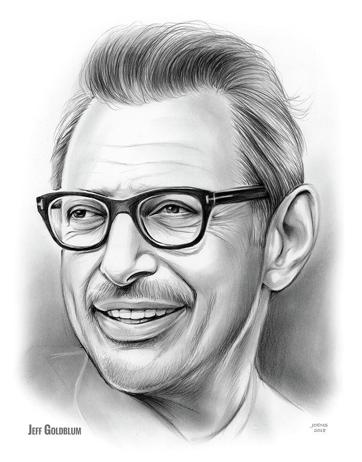 Jeff Goldblum 30dec18 Drawing