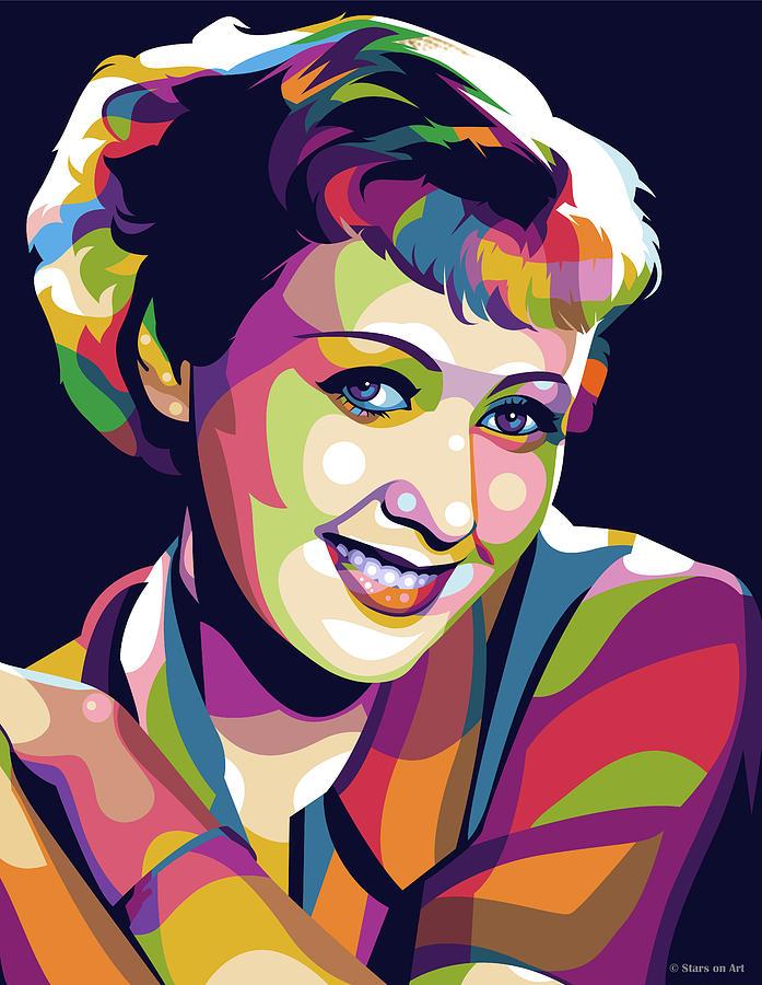Joan Blondell Digital Art