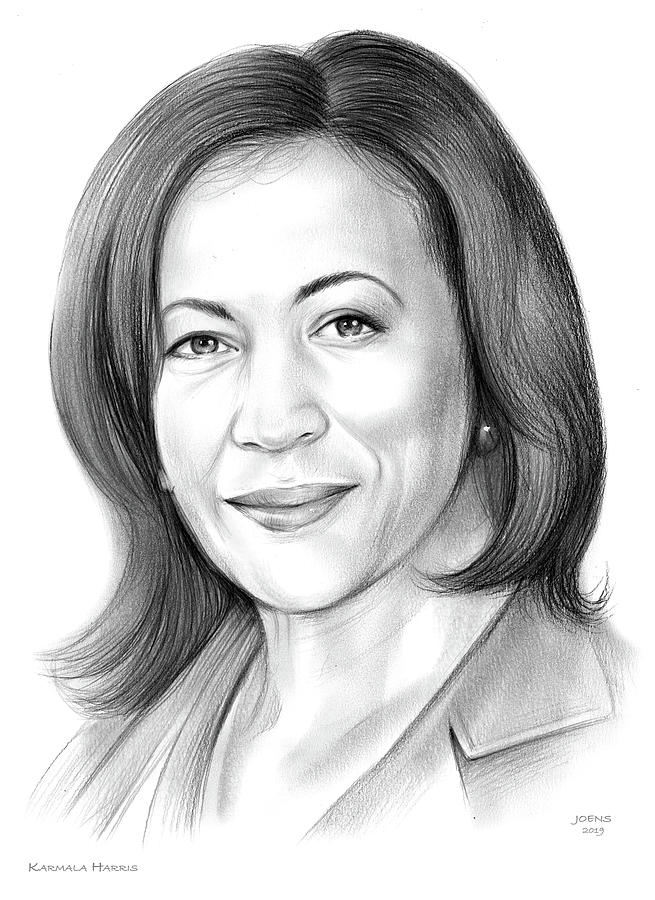 Karmala Harris Drawing