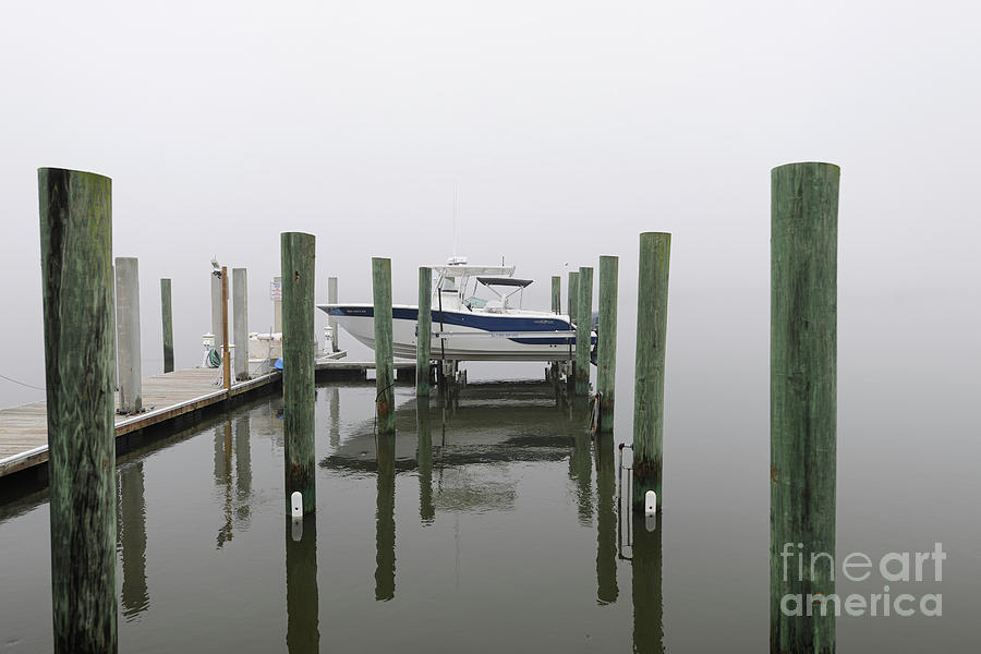 Lifted Up Into The Fog - Rivertowne On The Wando Photograph