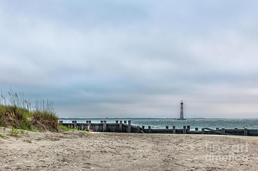 Light Up The Sky - Morris Island Lighthouse Photograph