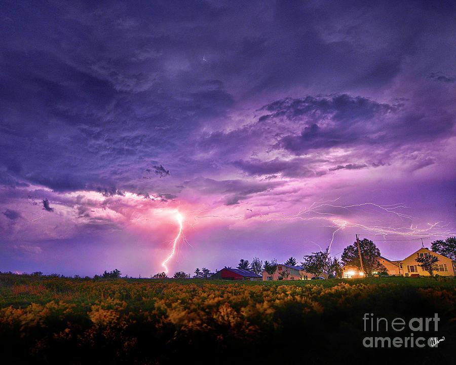 Lighting Maine Farm Photograph