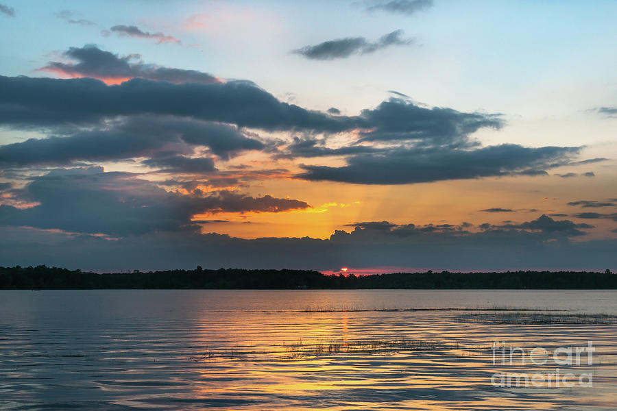 Lowcountry Southern Exposure - Wando River Sunset Photograph