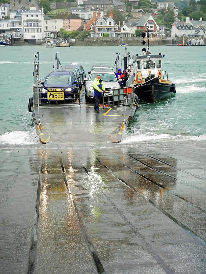 Lower Ferry Arriving At Dartmouth, Devon Photograph