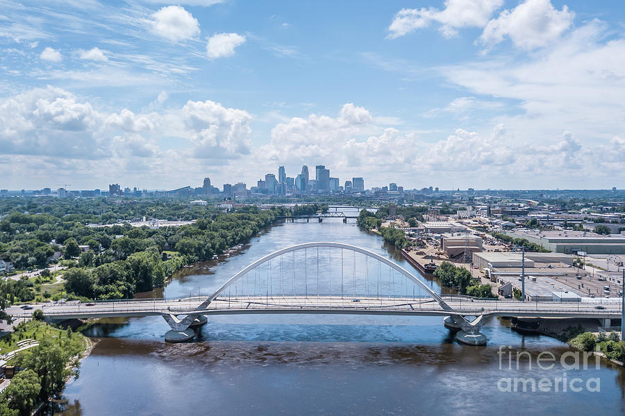 Lowry Ave Bridge And The City Photograph