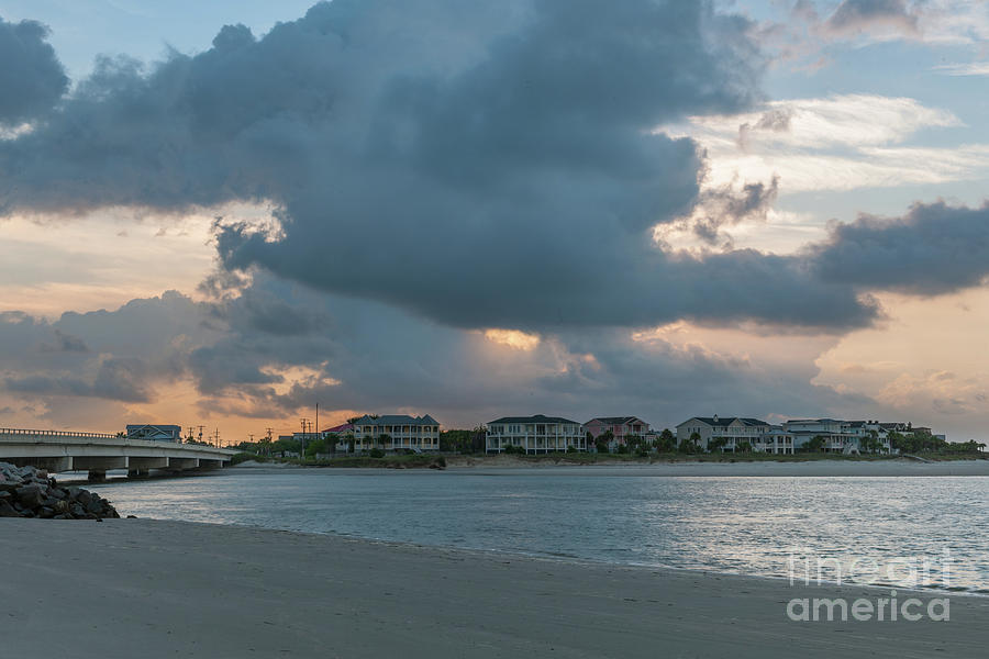 Magnificient Clouds Over Breach Inlet Photograph