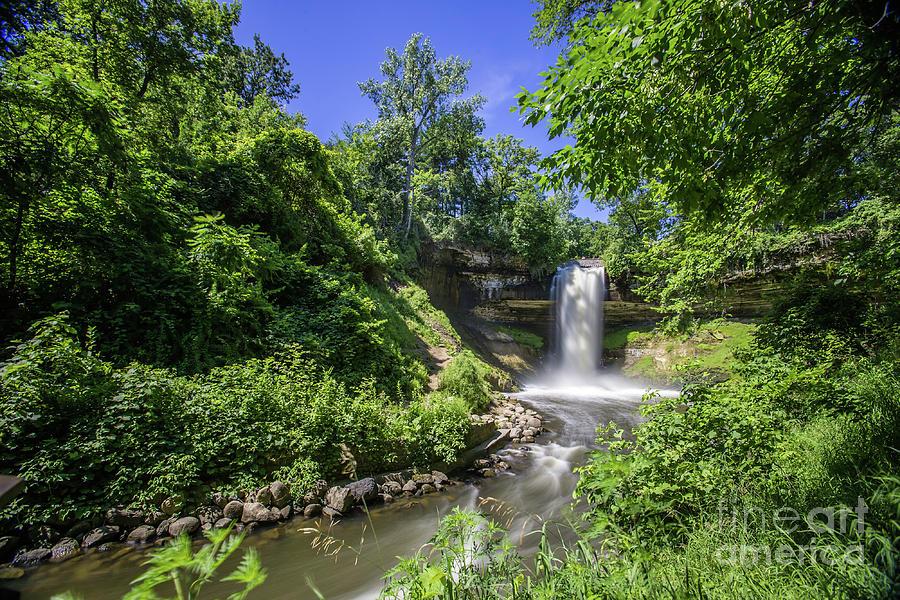 Minnehaha Falls In Green Photograph