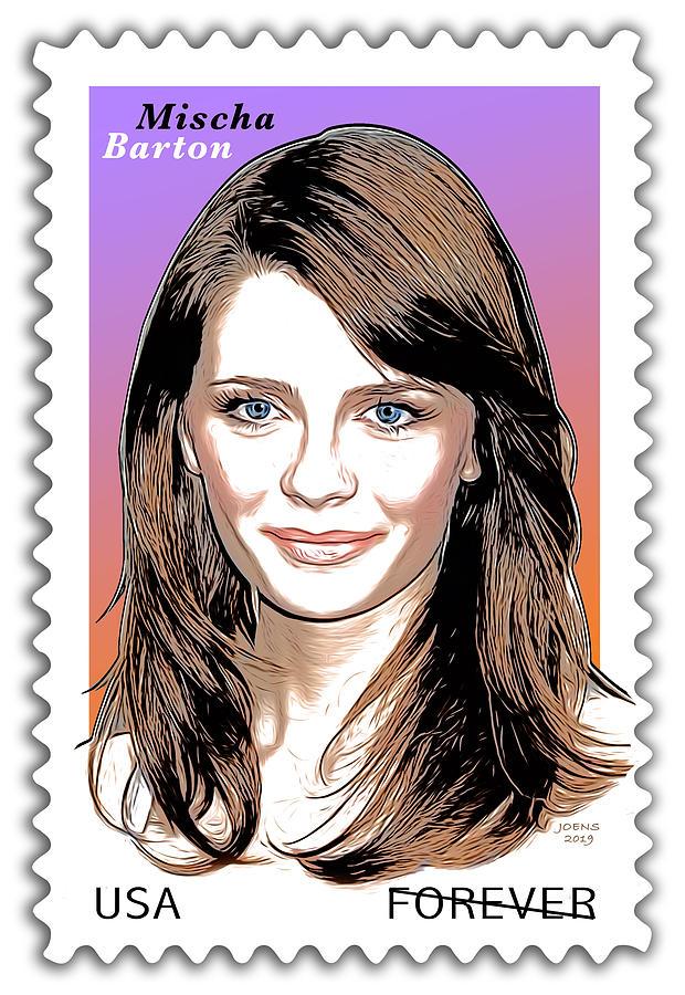Mischa Barton Stamp Digital Art
