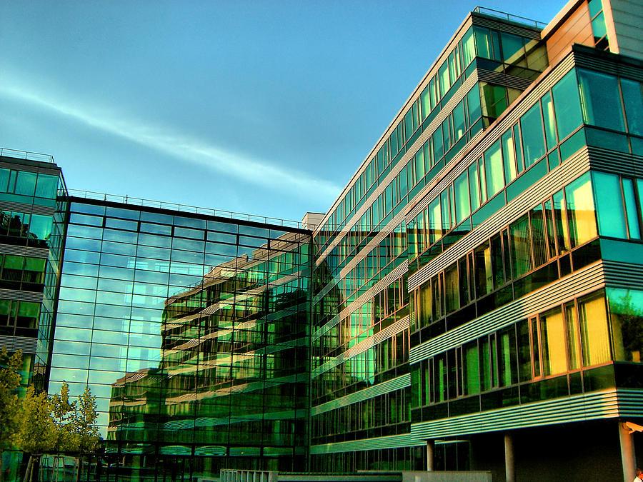 Modern Architecture In Vienna Photograph