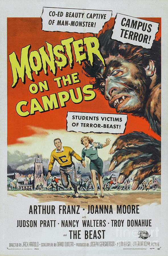 Monster On The Campus Movie Poster Drawing