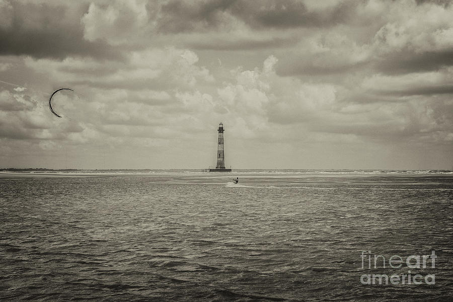 Morris Island Light In Sepia Photograph
