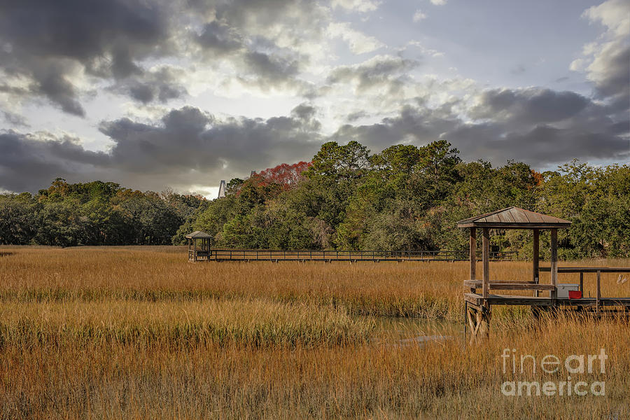 Mount Pleasant Winter Salt Marsh Photograph