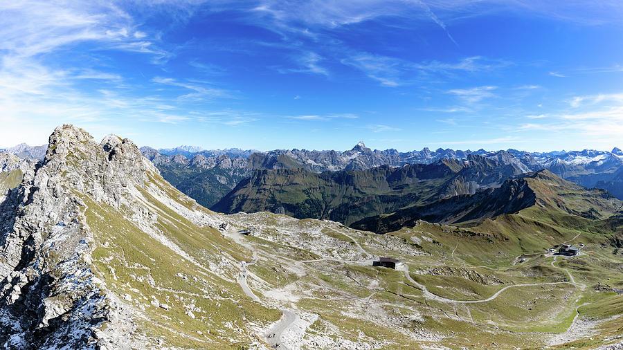 Nebelhorn Panorama Photograph