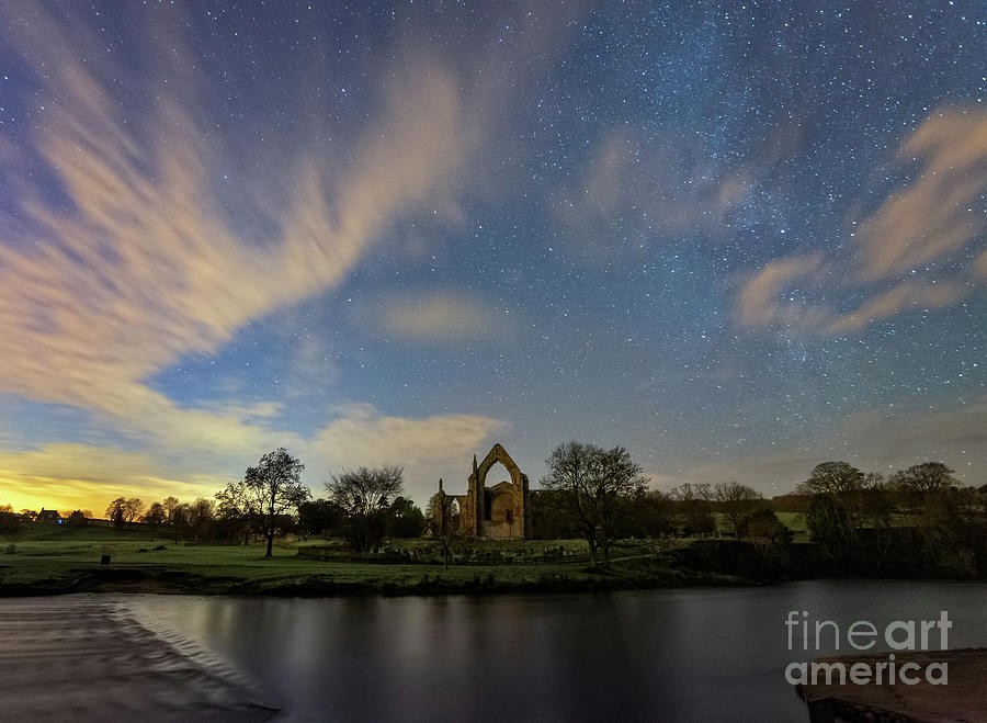 Night Sky In Bolton Abbey Photograph
