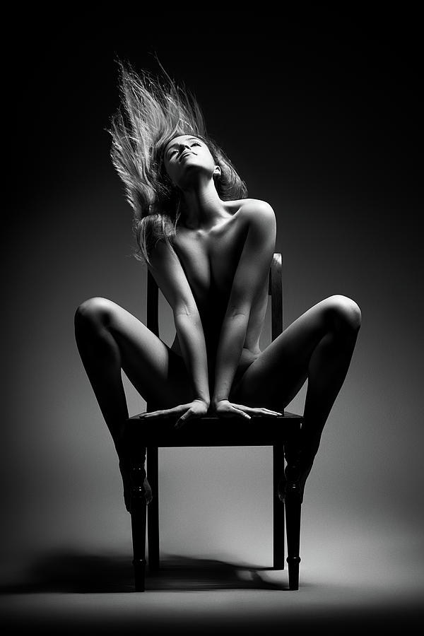 Nude Woman Sitting On Chair Photograph