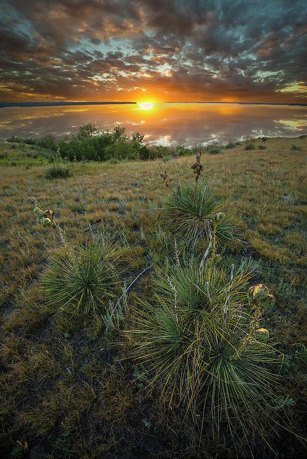Oahe Sunset Photograph