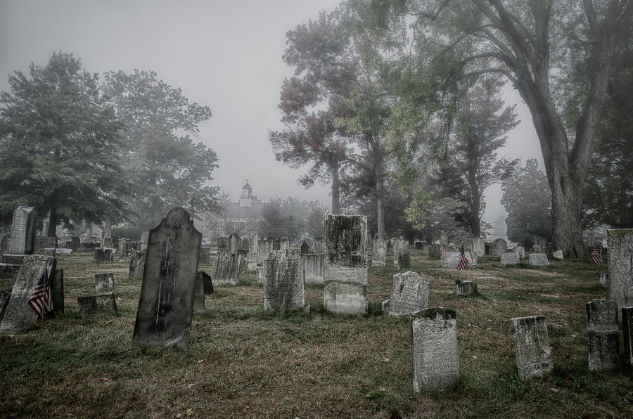 Old Foggy Cemetery Photograph