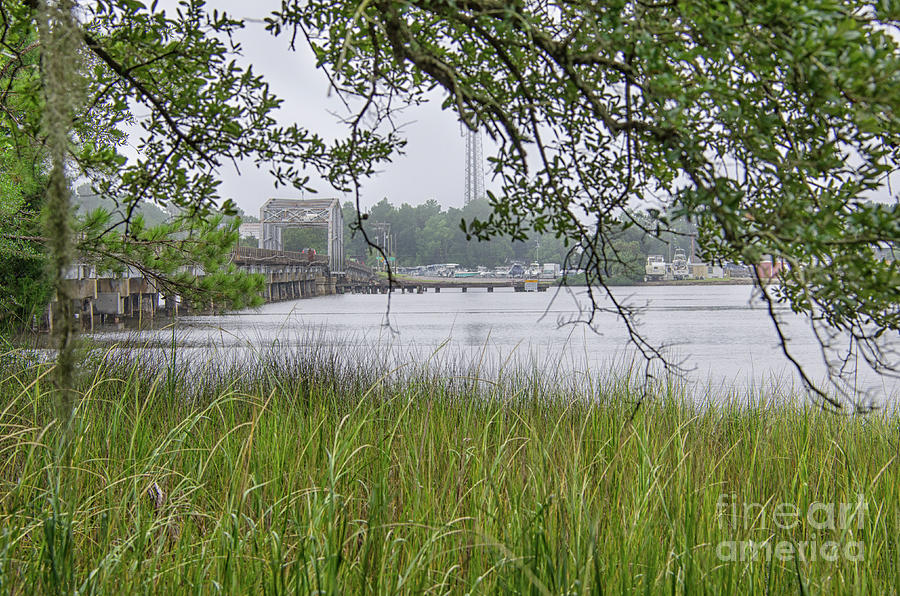 Old Highway 41 Swing Bridge - Mount Pleasant South Carolina Photograph