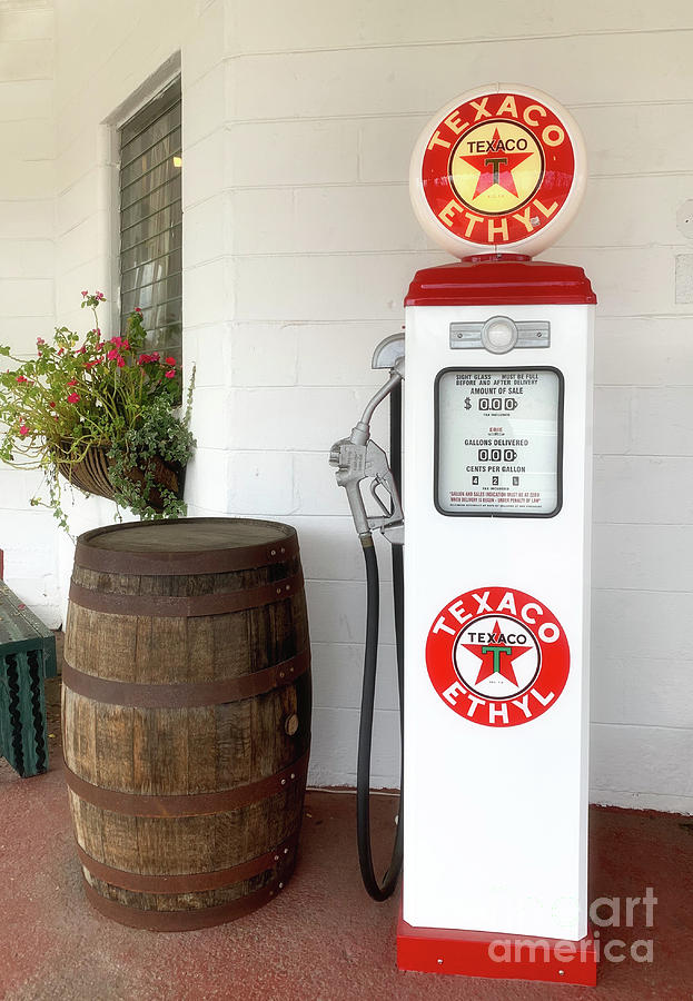 Old Shcool Gas Pump Photograph