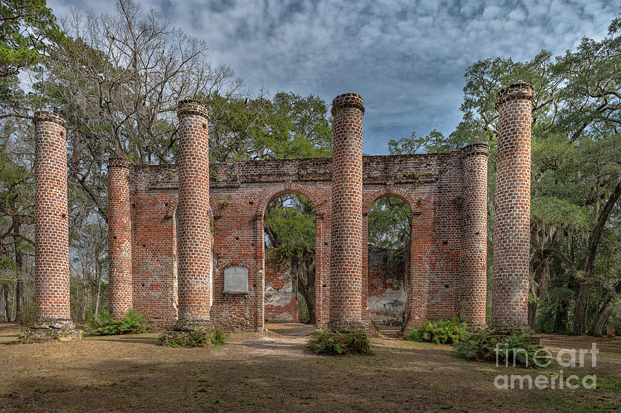 Old Southern Churches Photograph