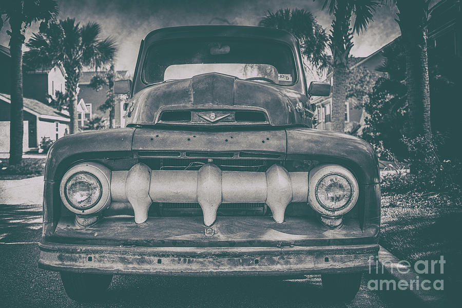 Old Vintage Ford Truck Grill Photograph