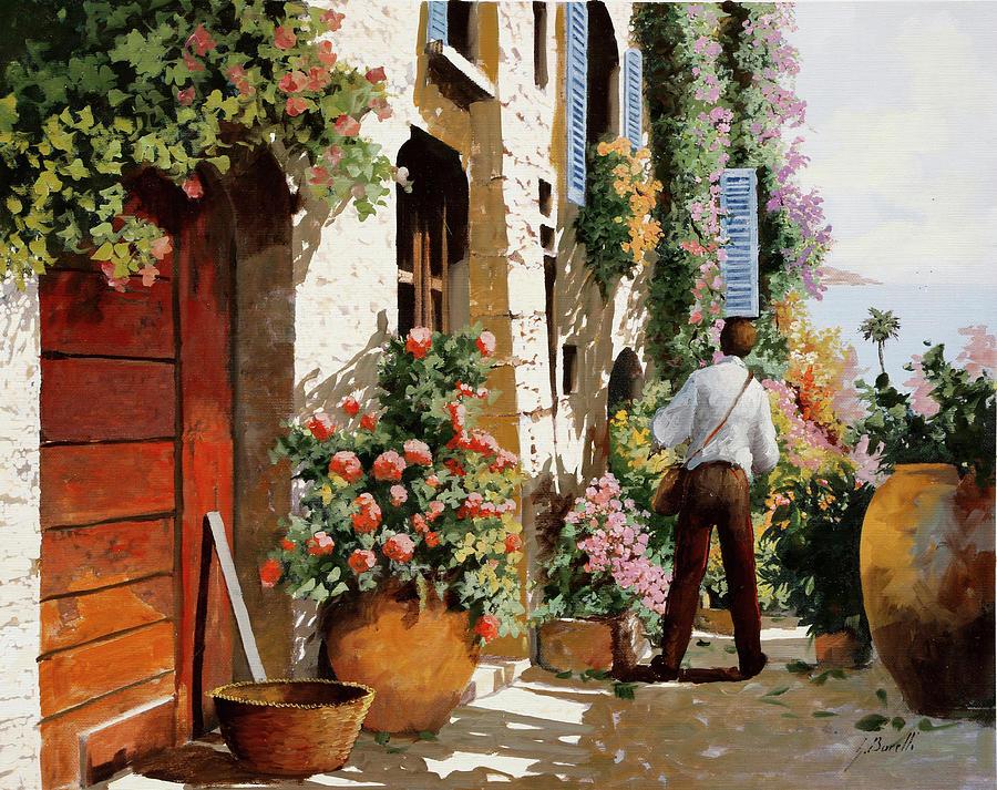 Omino Sulla Bella Strada Painting