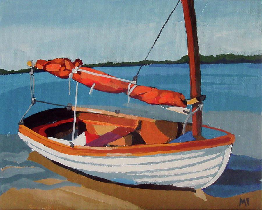 Orange Sail Painting