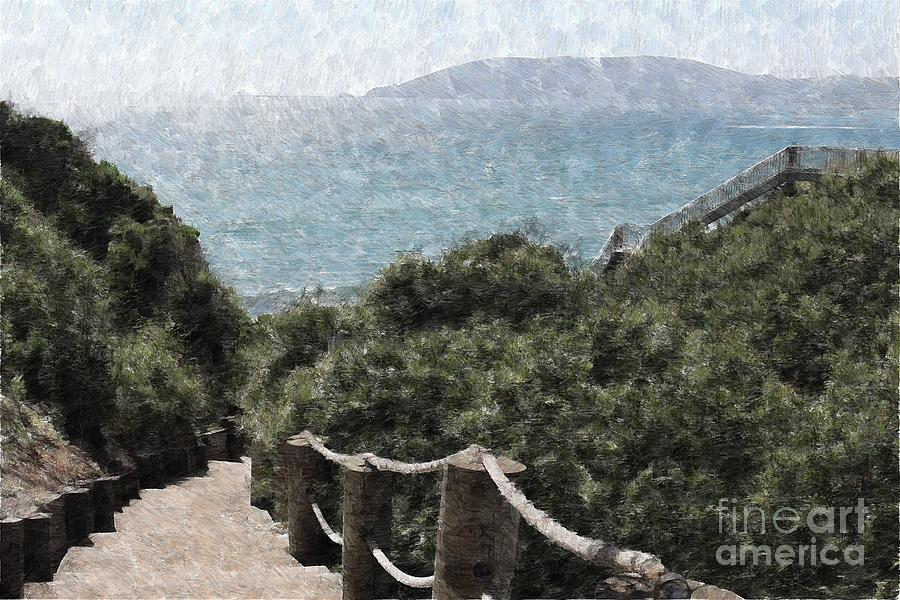 Painted Pathway Photograph